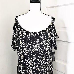 Lane Bryant Cold Shoulder Maxi Dress Size 26 NWTS